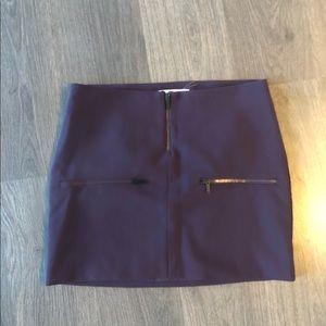 Elizabeth and James Purple Mini Skirt